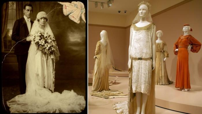 Ослепительные свадебные платья 1920-х — идеальное сочетание гламура и модных течений