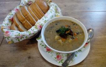 Грибной суп с манкой