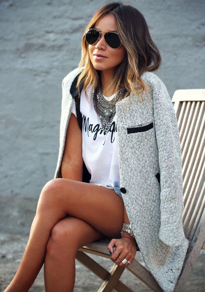 С чем носить летнее пальто: стильные образы