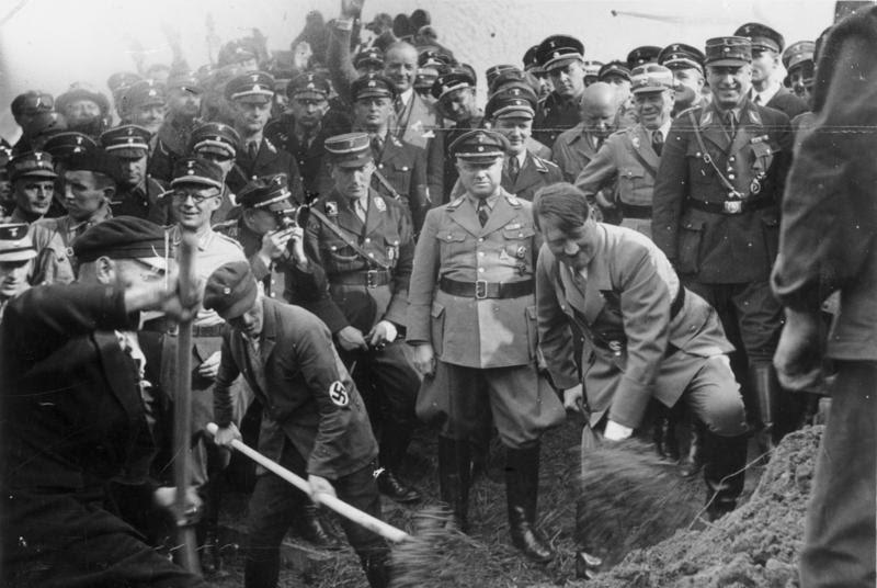 Фюрер строит автобан автобан, германия, дороги