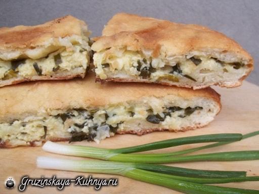 Сванские хачапури с зеленым луком (7)