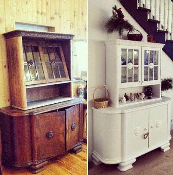 10 вдохновляющих примеров переделки старой советской мебели