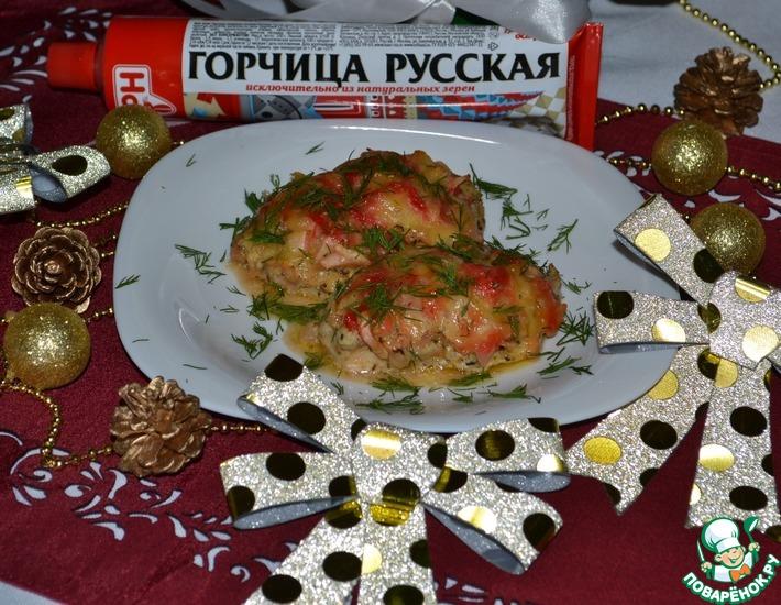 Рецепт: Медальоны из куриной голени Праздничный ужин