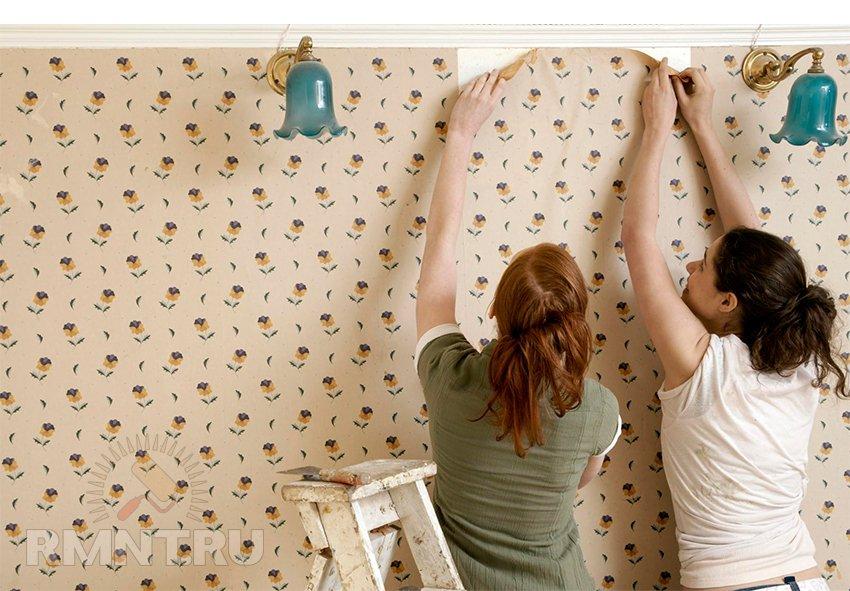 Как легко снять старые обои со стен