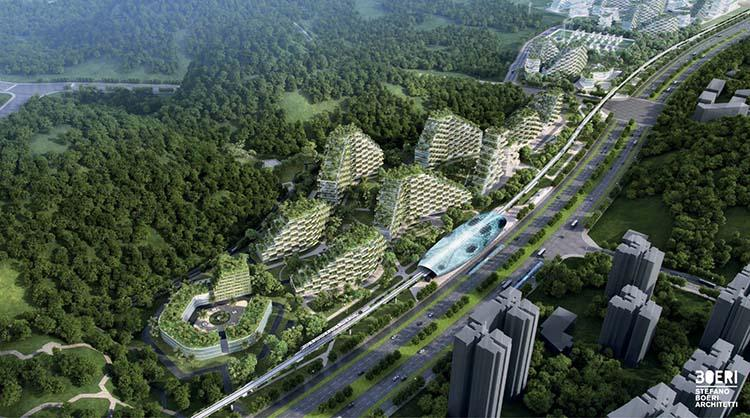 Китайцы строят первый в истории современный «лесной город», который будет состоять из 40 тыс. деревьев и должен противостоять загрязнению воздуха