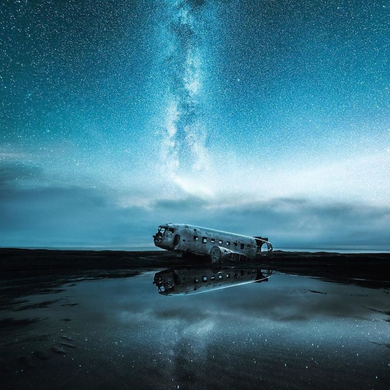 12. Обломки самолета после крушения виды, исландия, красота, фото