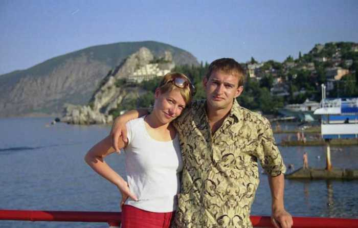 Константин и Анастасия Хабенские на отдыхе. / Фото: www.screen-desktop.ru