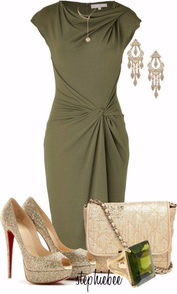 Оливковый цвет в одежде: 9 сногшибательных образов