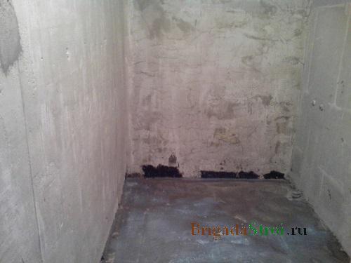 ремонт ванной комнаты, подготовка стен и полов фото