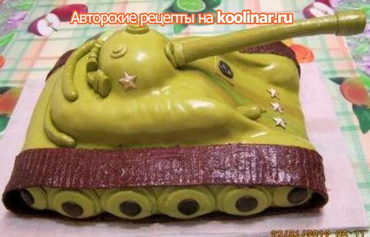 Торт танк фото своими руками рецепт