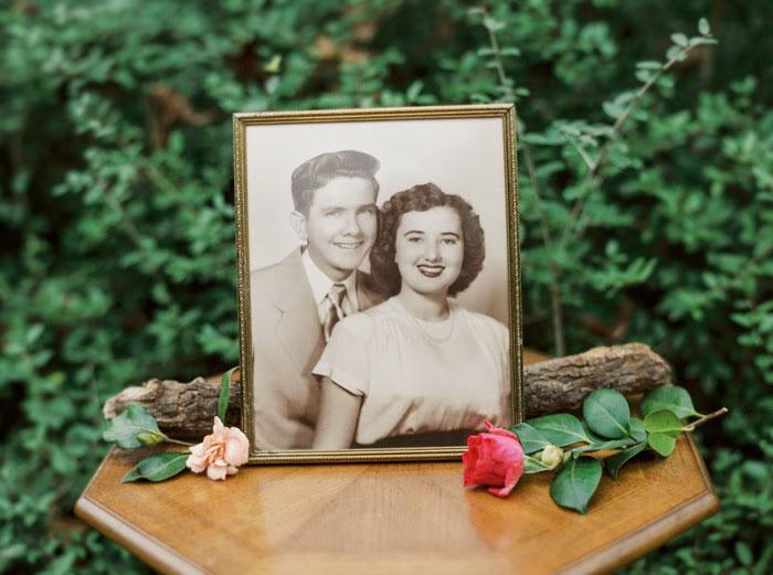 Фото любящей пары, сделанное в 1952 году.
