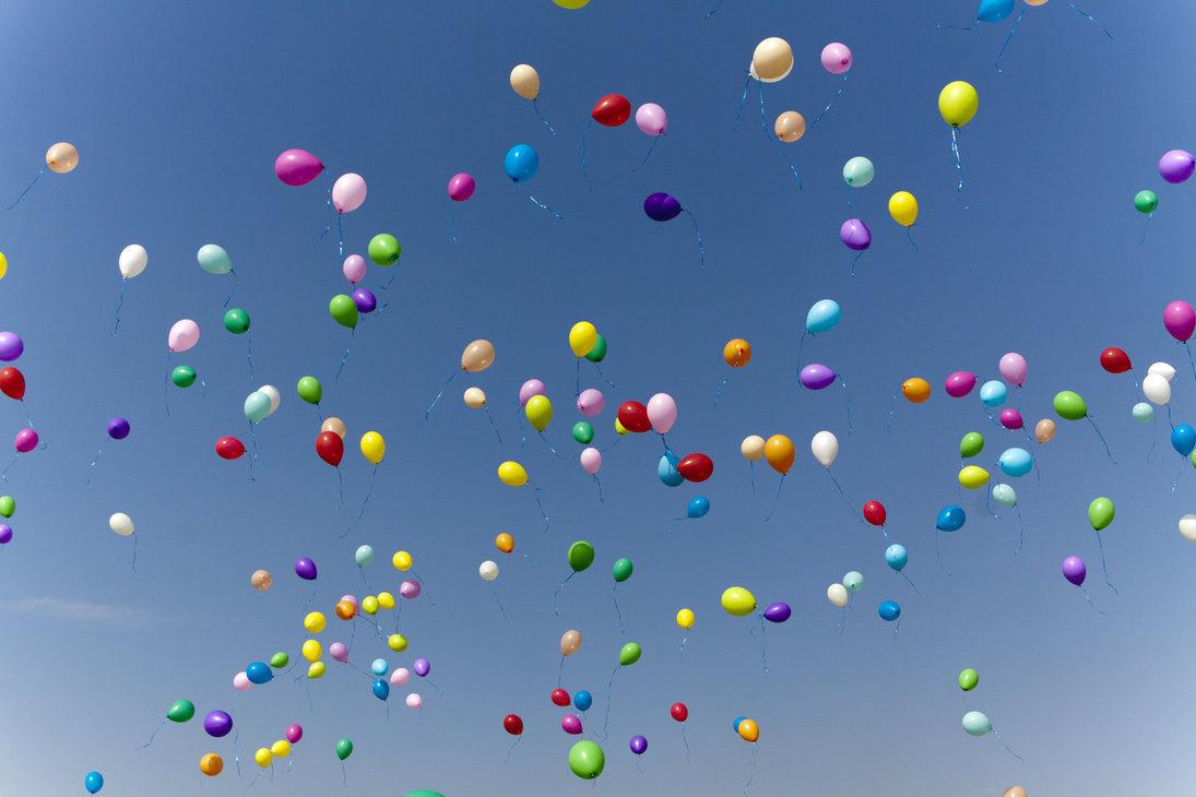 Не выпускайте воздушные шарики в небо