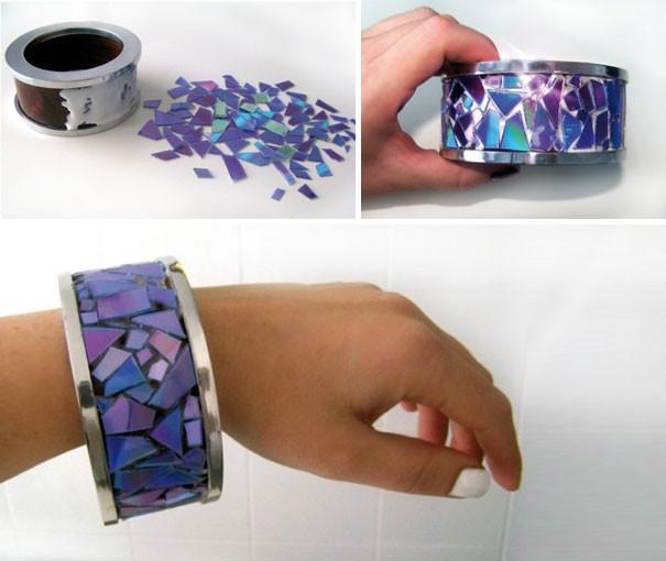 Яркий браслет диск, своими руками, сделай сам