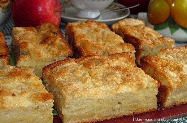 Нежнейший яблочный  пирог-суфле
