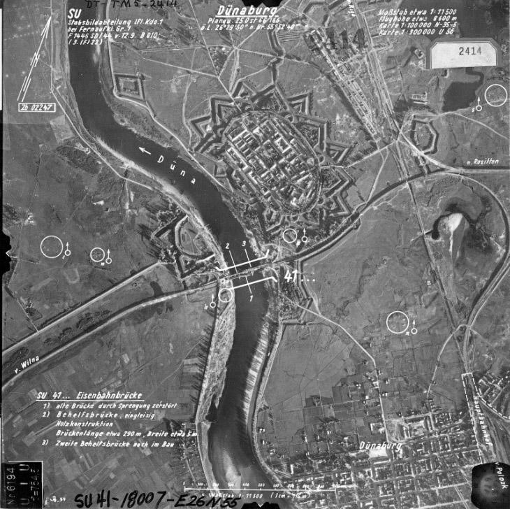 Вид крепости на немецких шпионских снимках времен Второй мировой