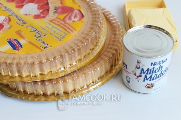 Ингредиенты для пирожного «Картошка»