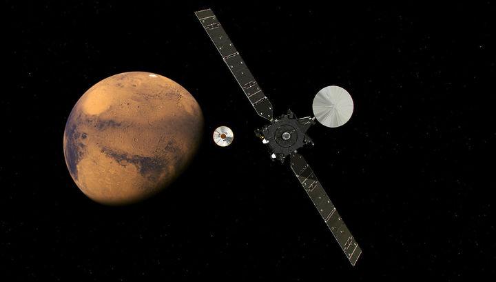 Аппарат TGO выяснит, сколько на Марсе «газов жизни»