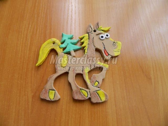 Поделка из соленого теста лошадь 95