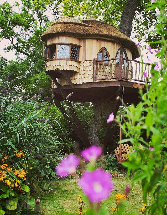 Дом на дереве для детей бюджетный вариант