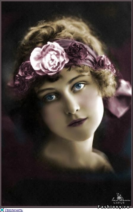 Женщина – цветок из Belle Epoque