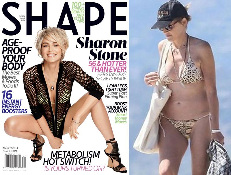 Шэрон Стоун звезды, знаменитости, купальник, обложка, фигура
