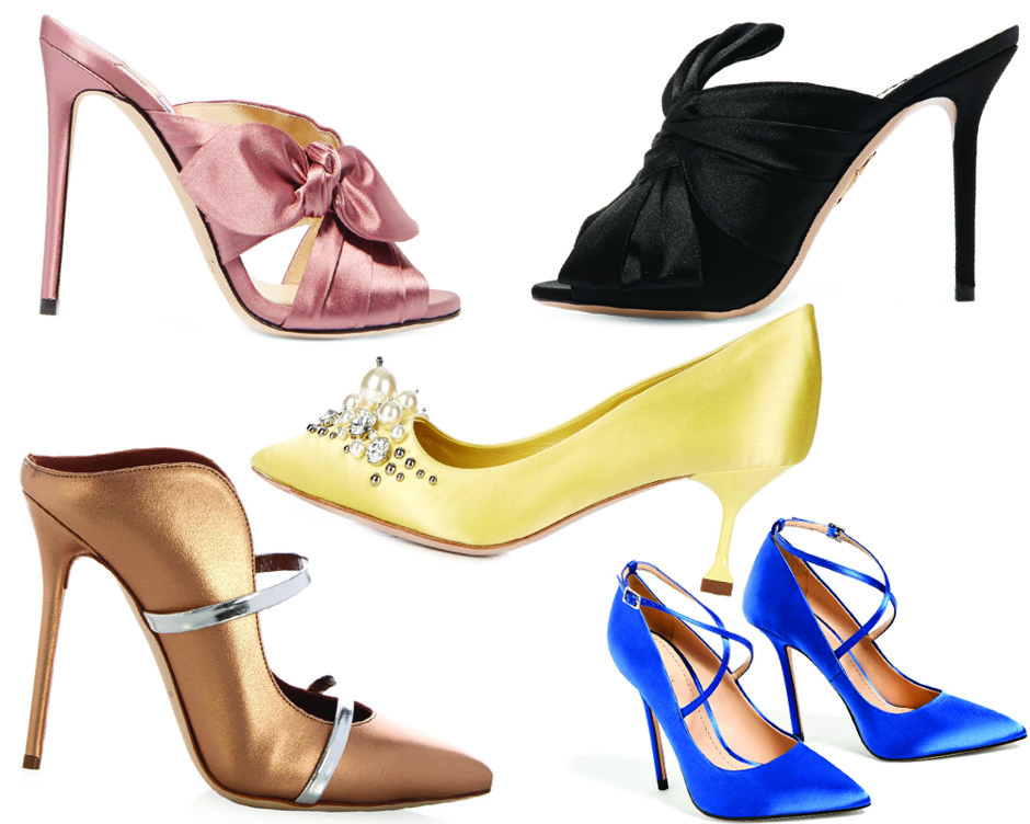 Атласные туфли, глиттер и жемчуг: самые нарядные аксессуары для Нового года