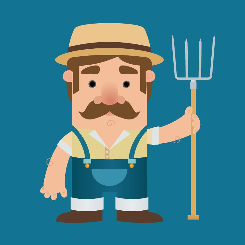 Очень занятой фермер