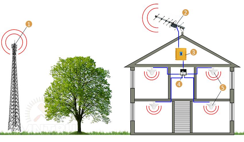 Антенна для сотовой связи в деревне