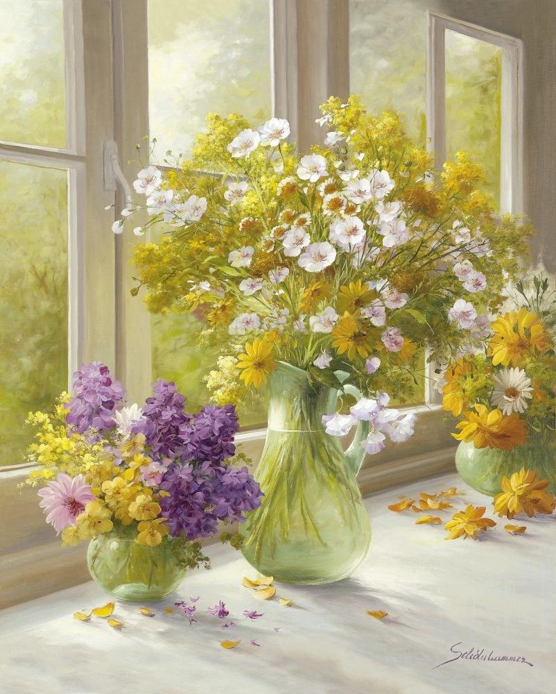 Цветы на картинах художников