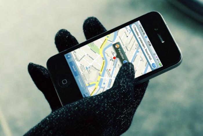 Использование телефона в мороз.