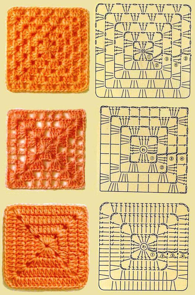 Вязание из мотивов квадрат