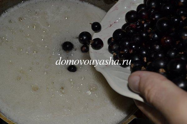 варенье ииз черной смородины пятиминутка