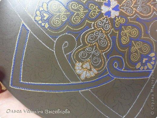 Декор предметов Роспись Тарелка Сердце Востока МК для начинающих Краска Стекло фото 10