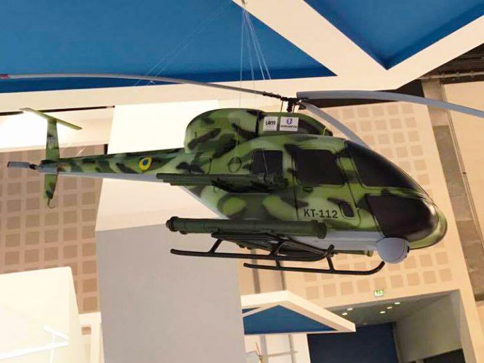 Украина представила новый легкий ударный вертолет КТ-112 на выставке IDEX 2017