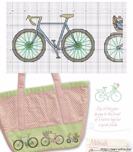 Вышиваем велосипед. Идеи со схемами (8) (517x592, 224Kb)