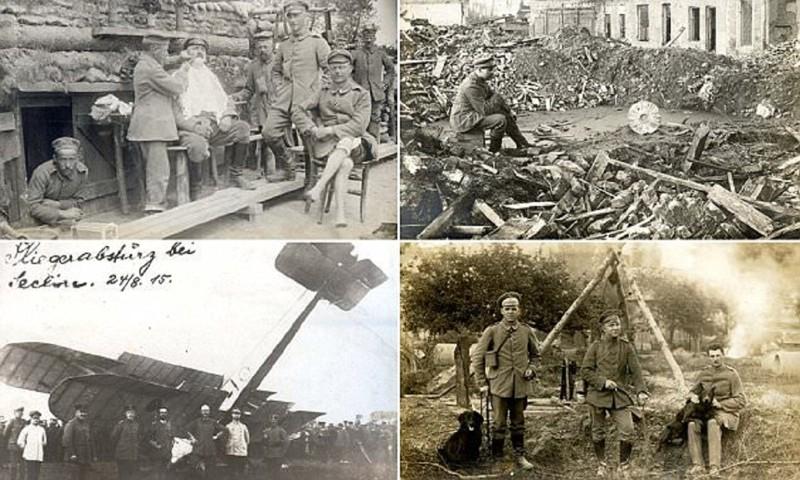 В немецких окопах Первой Мировой