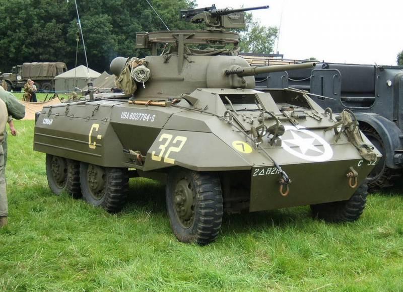Колёсная бронетехника времён Второй мировой. Часть 20. Бронеавтомобиль M8 (США)