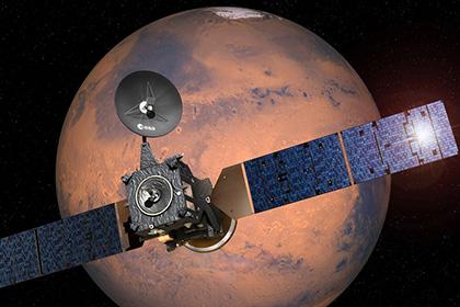 Станция ExoMars сделала снимок спутника Марса