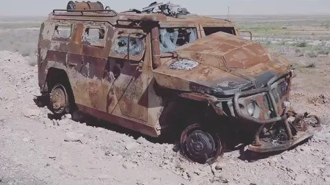 "Подбитый бронеавтомобиль ""Тигр-М"""