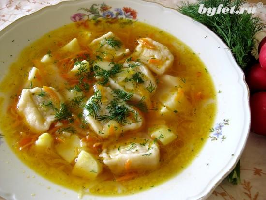 Суп с ленивыми пельмешками: Рецепт сказочный