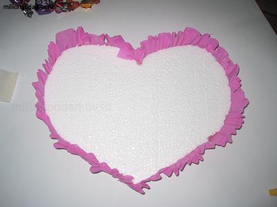 Валентинка из конфет