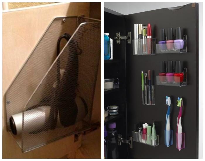 На дверцы шкафчиков тяжелые полки и предметы вешать нельзя.