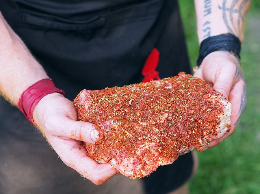 Мясо в сухом маринаде