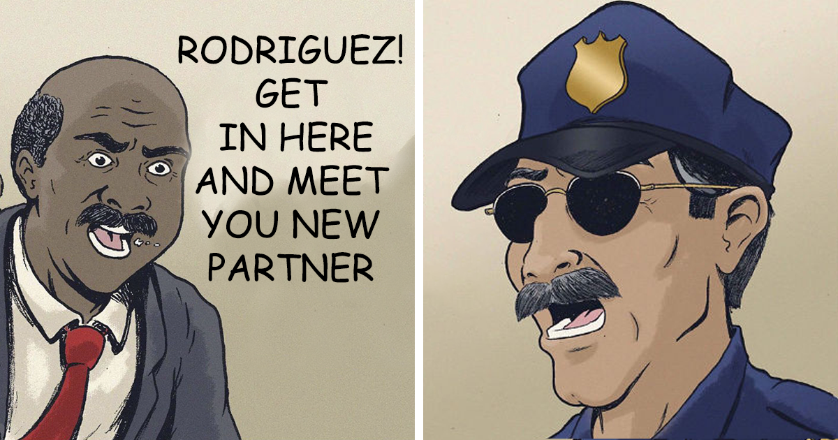 """Hilarious """"SEAL'd Confession"""" Comics About A Cop And His Unusual Partner"""