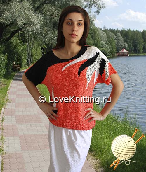 Пуловер «Оранжевое лето»