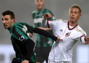 Покер форварда «Сассуоло» затмил дебют К.Хонды в «Милане»