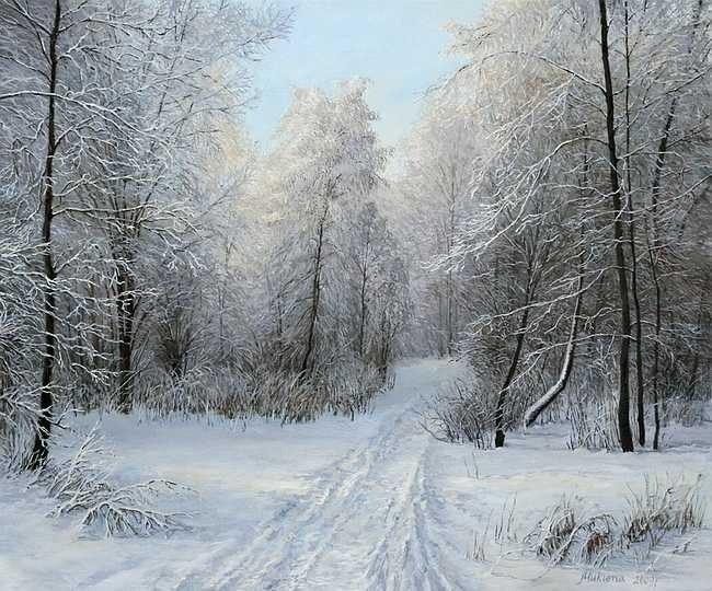 зимние пейзажи Ольга Дидык - 08