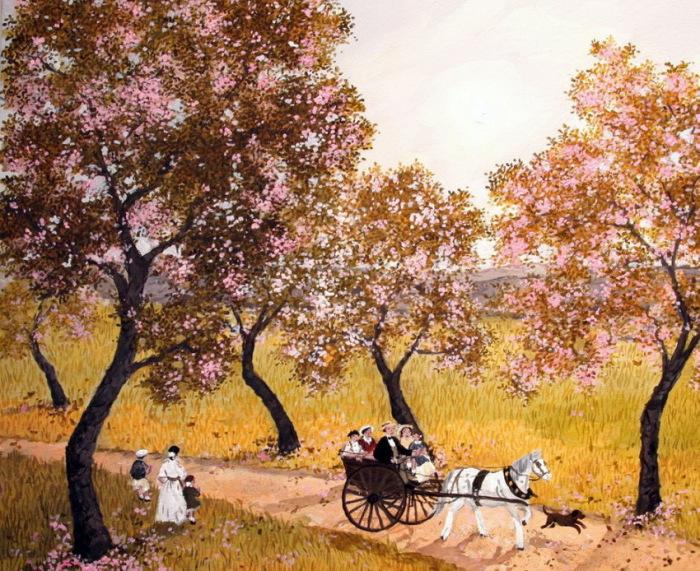 Весна в Париже.  Автор: Michel Delacroix.