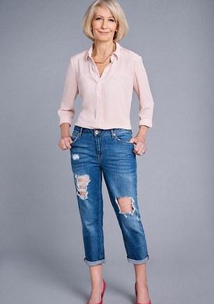 Рекомендации для дам элегантного возраста — рваные джинсы. Носить ли. И если носить, то как лучше это делать