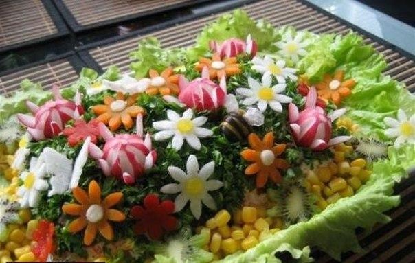 Съедобные цветы к празднику!